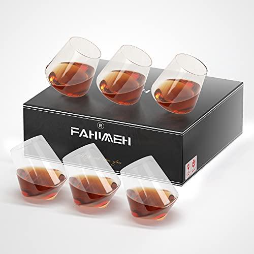 6PC 400ML Bicchieri Vino Bicchieri Whisky Bicchieri Rum Bicchieri Vino Bianco Bicchiere da Vino Rum Bicchiere da Vino