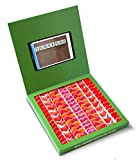 Caja golosinas Whatsapp 23x23cm con mensaje I LOVE YOU, su interior contiene 750g de golosinas Love