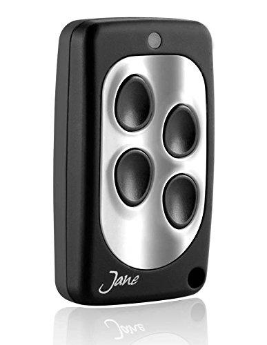 Telecomando universale Jane Q quarzato 30,875 Mhz, 5 colori disponibili, radiocomando 4 canali, compatibile con tutti i telecomando della stessa frequenza a codice fisso. (nero argento)