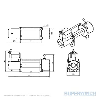 Superwinch Winch 8500lbs/3856kg with Cover Mount Plate and Roller Fairlead Bundle