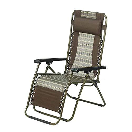 Fauteuil inclinable Chaise Pliante inclinable Chaises Longues Garden Beach Bureau Sun Lounger Zero Gravity Relaxer Brochage