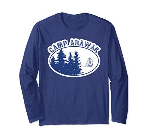 Long Sleeve Camp Arawak Shirt Retro Summer Camp T-Shirt