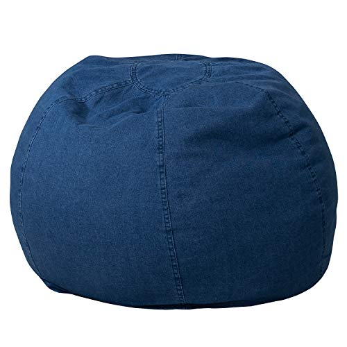 Flash Furniture Small Denim Bean Bag Chair for Kids and Teens
