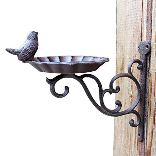 Ybzx Garden Wall Hanging Bracket, Bird Feeder Garden Hanging Basket Decoration Cast Iron Hanging Basket Hook Wall Bird Sculpture Hook