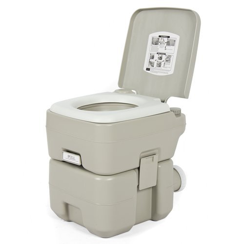 Best Choice Products Portable 5-Gallon Toilet w/Dual Spray Jet Flush...