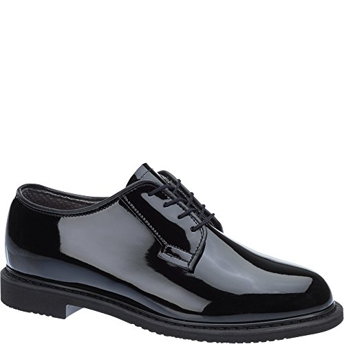 Bates Women's Lites High Gloss Oxford Shoes Round Toe Black 7 M