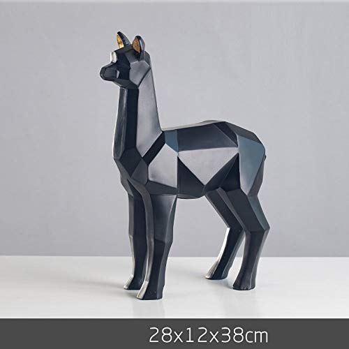 DAJIADS figuur, beeldjes, beeldjes, sculptuuren, geometrisch alpaca figuurtje Origami dieren gras modder paard kunst sculptuur voor woonkamer huis zachte decoratie tv-kast meubels meerdere kleuren