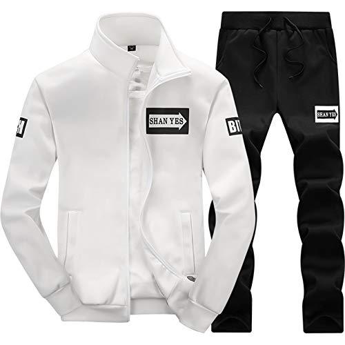 XYJD Herren Trainingsanzug Sets Hosen Full Jip Jogging Gym Anzug Jacke mit Taschen