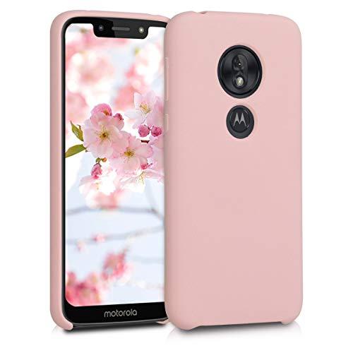 kwmobile Funda Compatible con Motorola Moto G7 Play (EU-Version) - Carcasa de TPU para móvil - Cover Trasero en Rosa Palo