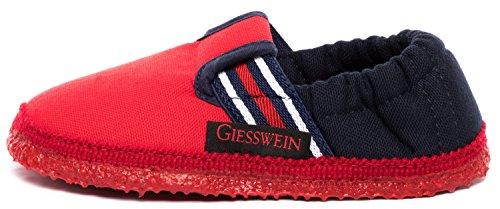 Giesswein Aichach, Chaussons Bas Mixte Enfant - Rouge (Feuer 312), 33 EU