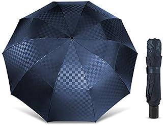 Paraguas grande de doble capa para lluvia, mujeres, hombres, 3 paraguas plegables de 10 K a prueba de viento B, sombrilla ...