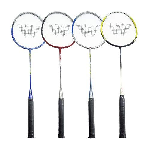 Rayline 4er Set Badminton Schläger BD002 für Erwachsene (4 Farben) für Einsteiger, Freizeit- und Hobbyspieler