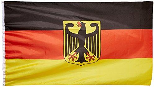 MM Deutschland Fahne/Flagge mit Adler, mehrfarbig, 250 x 150 x 1 cm, 16115