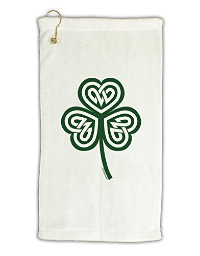 TOOLOUD Celtic Knot Irish Shamrock Micro Terry Gromet Golf Towel 16' x 25'