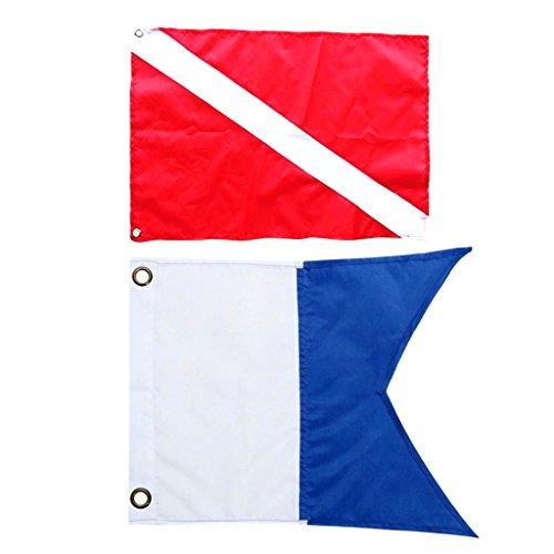 FLAMEER 2 Unidades de Bandera de Yate Barco para Protección Accesorio de Kayak Ligero Duradero