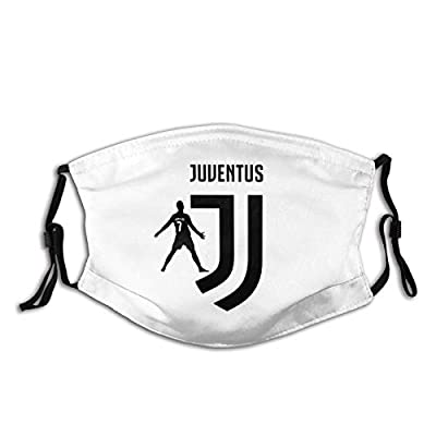 Unisex Reusable Mouth ????s Anti Dust Protection with Cr7 Ro-naldo Soccer JU-Ventus Face Bandana with Adjustable Earloops Black Face Mask