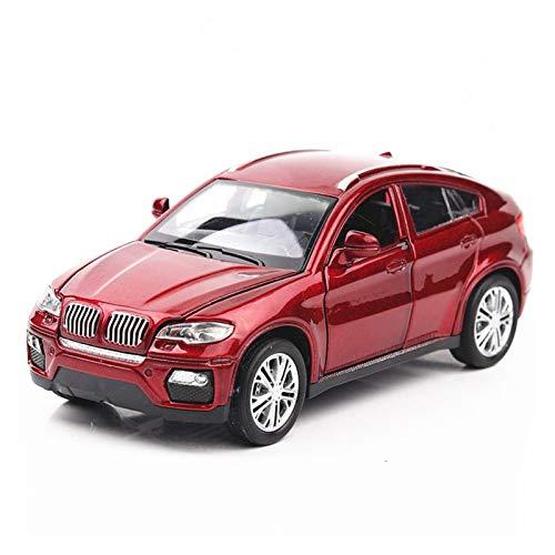 MLKJ Vehículo de Juguete 1:32 para BM SUV, vehículos de Juguete de simulación, Modelo de Coche, aleación, Juguetes para niños, Regalo, Coche Todoterreno, niños (Color : A)