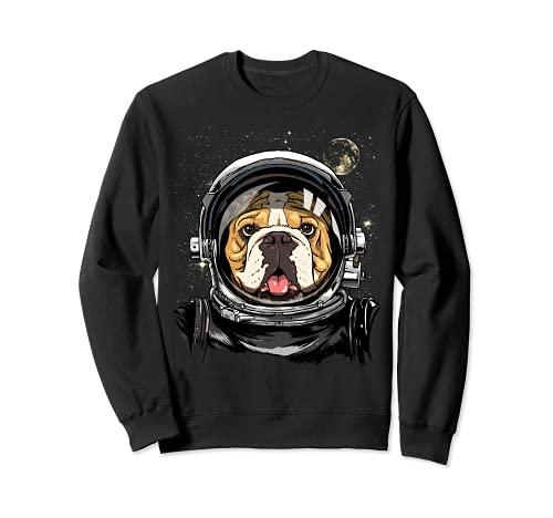 American Bulldog Dog Astronauta Exploración Espacial Astronomía Sudadera