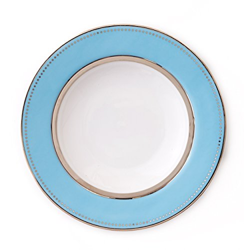 CRU by Darbie Angell Lauderdale Rim Soup, Sea Blue/Platinum/White