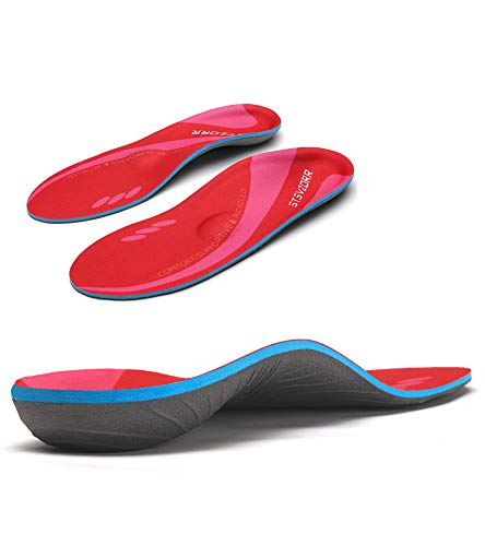 Plantar Fasciitis Medium Arch Support Insrert Relief Flat Feet Heel Pain Orthotics Over-Pronation Comfortable Shoes Insole