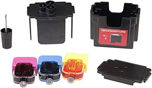 refill24 Kit de FÁCIL Recarga para Cartuchos de Tinta Canon 560, 561, 560 XL, 561 XL Negro y Color. Incluye Clip y Accesorios