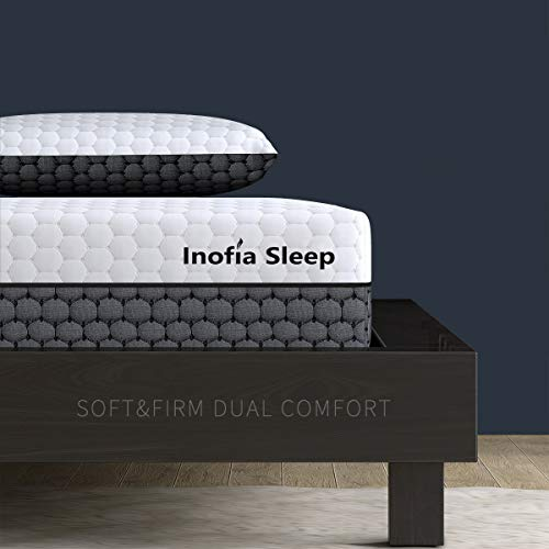 Inofia Sleep Super King Memory Foam Mattress,2 in 1-Soft and Firm Two Sided Flippable Mattress,Ergonomic Divided Zoned Cold Foam,Washable Cover,OEKO-TEX 100,22cm High