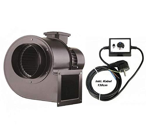 Uzman-Versand OBR-200M radiaalventilator met 500 W regelaar, radiale centrifugaalventilator zuigventilator radiale ventilator ventilator ventilator ventilator afzuiging radiale ventilator