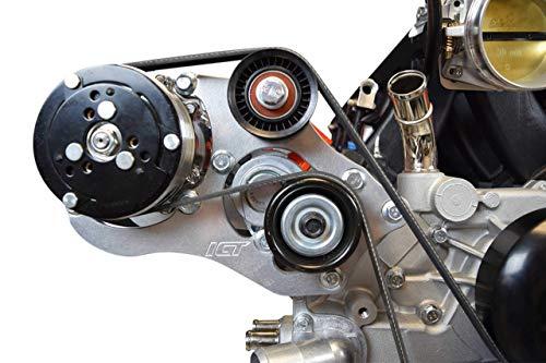 ICT Billet LS Truck SUV A/C Air Conditioner Compressor Bracket Kit for Sanden 508 LSX AC LS1 LM7 LR4 LQ4 L59 LQ9 LM4 L33 L92 L76 LY2 LY5 LY6 LC9 LH8 LMG L98 L99 L96 LC8 551494X-3