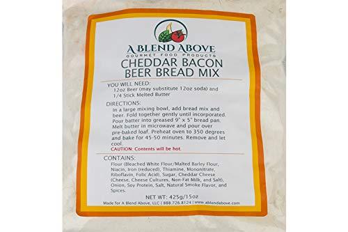 Cheddar Bacon Beer Bread Mix Packets, Beer Infused Loaf Blend, 15 oz bag (1 pack)