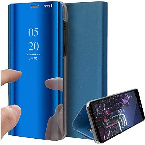 Healthy stand Funda para iPhone 12 Pro Max, de lujo, estilo libro, transparente, con espejo, resistente a los arañazos, protección completa de cuerpo entero, funda tipo libro para iPhone 12 Mini