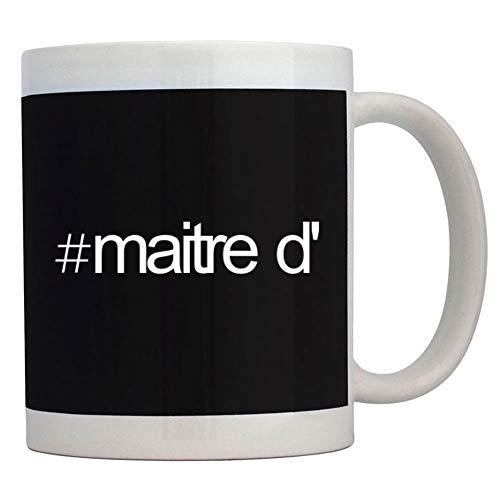 Teeburon Hashtag Maitre D' Bold Text Taza cerámica 11 onzas