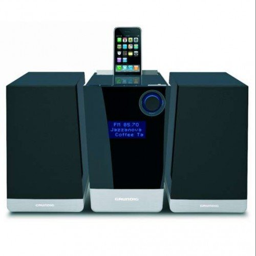 Grundig UMS 4950 iP Kompaktanlage (CD/MP3-Player, SD/MMC-Kartenleser, Apple iPod-Dock) schwarz