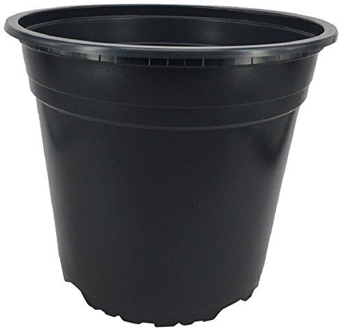 Nutley \'s Modiform Blumentopf Pflanztopf aus Kunststoff, 5Liter, schwarz, 10x 22cm