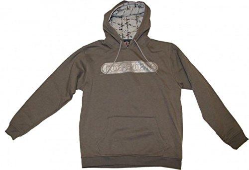 Independent Skateboard Pullover Basic Hood Baseplate Charcoal Sweater, Grösse:L