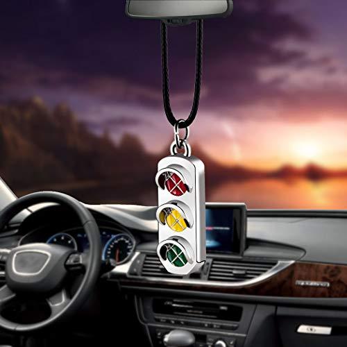 Car Pendant Mini Metal Hanging Decoration Chain Accessories car Charm Pendant car Pendant Luxury car Rear View Pendant car Ornaments for The Rear View Mirror (Traffic Light)