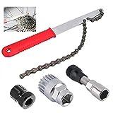 MidGard - Juego de herramientas 4 en 1 para bicicleta (cadena de látigo, extractor de corona dentada, pedalier de nuez, extractor de bielas)