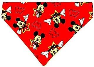Mickey Mouse Dog Bandana No-Tie Design