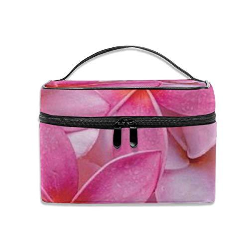 Tropical Pink Plumeria bloemen exotische Hawaii Leis frisse mooie cosmeticatas reizen cosmetica organizer