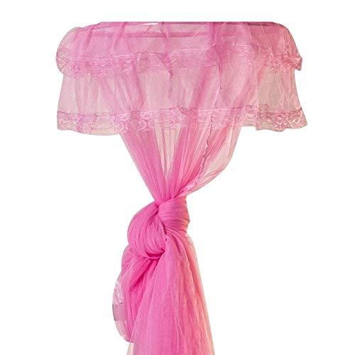 Hayandy Princess Cama TOSOPY Net OND Mosquito Red Redondo DE CORDADO for Twin Completo Y Las Camas DE DIZADOR COMBEBRAR (Color : Pink)