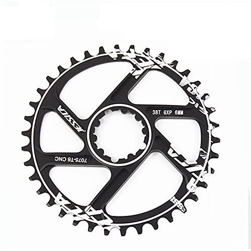 MENGGOO Caining Anillo de Cadena de Ancho Estrecho Offset 6mm Solo Rueda de Cadena para Fit for SRAM GXP XX1 X9 XO X01 Piezas de Bicicleta (Color : 34T)