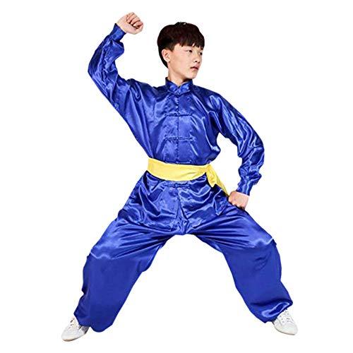Meijunter Tradicional Chino Tai Chi Wushu Ropa - Unisexo Niños Adulto Artes marciales Rendimiento Traje Kung Fu Uniforme