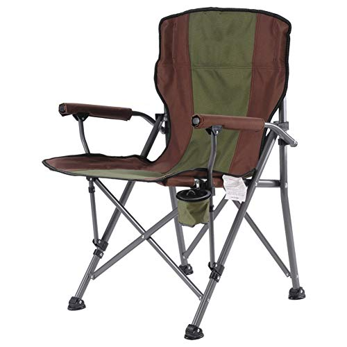 ZENGAI Crécerelle À Toute Épreuve Rembourré Chaise De Camping Acier Porte-Sac Pliant Festival… (Couleur : Green, Taille : 64x65x94cm)