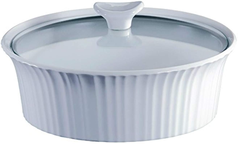 Corningware Covered Glass Casserole Round 2 1 2 Qt White