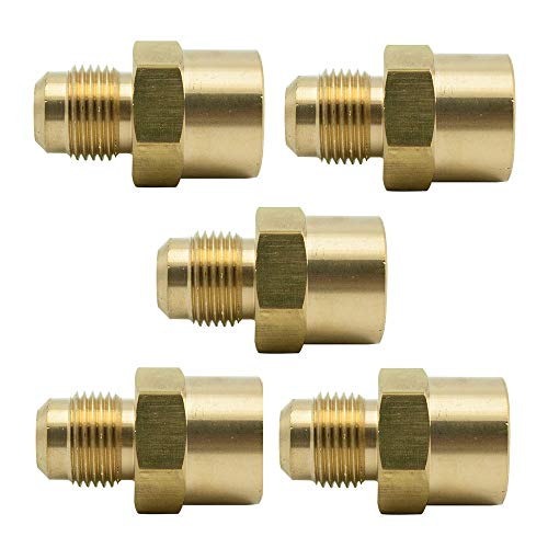 Vis Brass SAE 45 Degree Flare Tube Fitting, Coupling, Adapter (5, 3/16