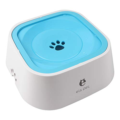 Vech Dog Water Bowl, Splash-Free Pet Water Feeder, Vehicle Carried Floating Bowl, No Spill Cat Water Fountain for Car Travel, No-Slip Water Dispenser for Small or Large Breeds (Blue)