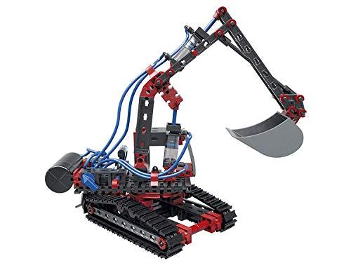 fischertechnik 533874 Pneumatic Power - der Pneumatik Spielzeug Bagger & 4 weitere Modelle von garantieren Spielspaß - Bergungsraupe, Stanzmaschine, Werkstattkran & Funktionsmodell -ab 8 Jahre