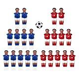 Amagogo 22x Jugadores de Fútbol de de Fútbol para Hombres de Futbolín con Accesorios para Juegos de Pelota - Estilo 1