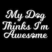 素敵なステッカー 12.7x7.8cm犬の愛私の犬は私が素晴らしい車のステッカー車のスタイリングアクセサリー装飾的なデカール黒/銀 車のステッカー (Color : White)