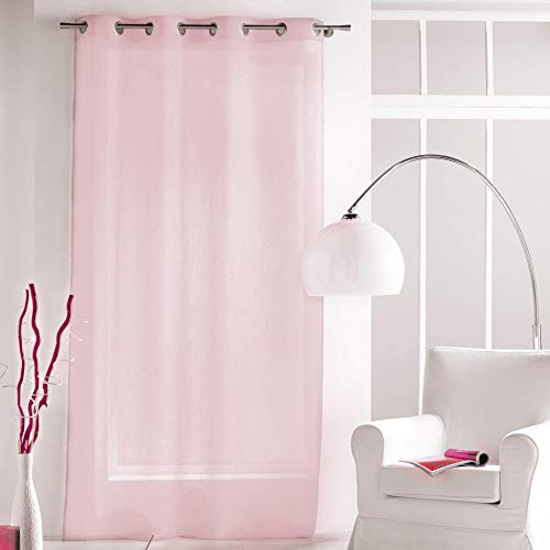 cortinas comedor rosa palo