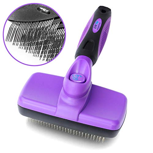 GM Pet Supplies Self Cleaning Slicker Brush | This is The Best Dog and Cat Brush for Shedding and Grooming | Our Pet Brushes are Suitable and Hair Lengths